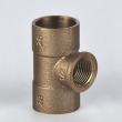 DVGW Tee C X C X F cast lead free Bronze Fittings